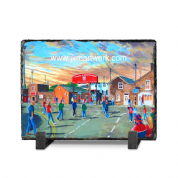 bootham crescent  going to the match slate print